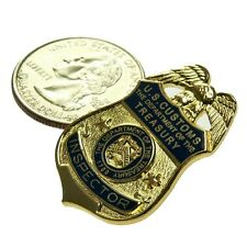 Legacy US U S Customs Inspector Border Officer Treasury Mini Badge Pin Tie Tac