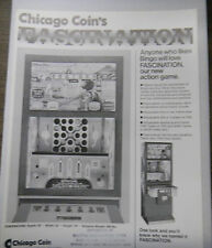 Vintage Chicago Coin Fascination Game Advertising Sheet 1970s RARE