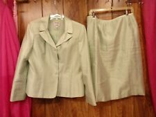 COLLECTIONS for LE SUIT Green Suit Skirt Set 2-PC ~ Lined Work Career Sz 14