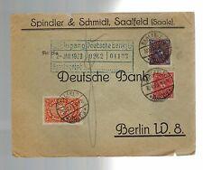 1923 Saalfeld Germany Spindler & Schmidt Deutsche Bank Cover