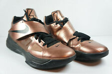 Nike Zoom KD IV Christmas Kevin Durant Size 10 Bronze Gold Black 473679-700 EUC