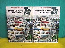 TUTTE LE AUTO DEL MONDO Quattroruote 2  volumi - Domus 1982