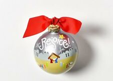 Coton Colors Rejoice Nativity Christmas Glass Ornament New in Box