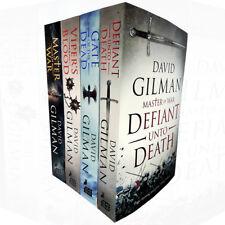 David Gilman collection 4 Books set Master of War Defiant Unto Death BRAND  NEW