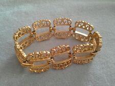 Crown Trifari Gold Plated Scroll Link Bracelet MINT!!