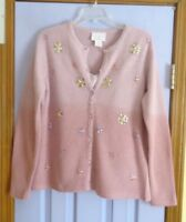 UNWORN WOMEN'S APRIL CORNELL  EMBELLISHED WOOL BLEND SWEATER WITH CAMI - M