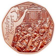 Österreich 5 Euro 2016 bfr. Neujahrskonzert Wiener Philharmoniker Kupfer