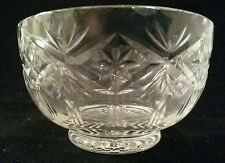Beautiful old Cut Crystal Pedestal Finger Bowl - Made in Poland - poss. Towle