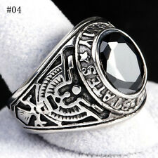 Men Cool Stainless Steel 316 Siam Red United States US Army Military Ring 7-13