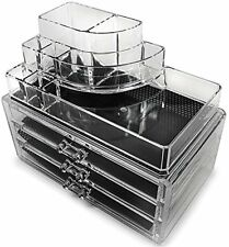 Makeup Jewelries Stand Lipstick Brushes Rack 2 Tier Holder Counter Bath New