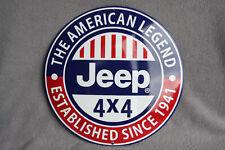 JEEP USA Emailschild Porzellan Schild Enamel sign Emaille smalt 40 cm