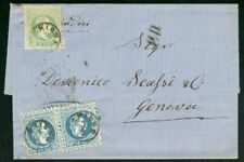 Austria/Turkey 1874 cover/Levant Offices 3s & 10s pair