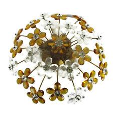 Banci Firenze Flush Mount Ceiling Hollywood Regency Art Glass flowers 4 Lights