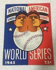 1945 World Series Chicago Cubs Detroit Tigers program Original