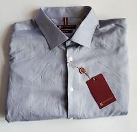 Blair Underwood slim fit Mens Long Sleeve Dress Shirt Size 19 36/37 Gray 51-31