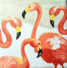 Coastal Collection Frankie Flamingo Fabric Shower Curtain 72x72 Multicolor
