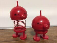 Vintage Hoptimist Bimble Bumble Red Spring Bobble Head Slinky Toys Alien Figures