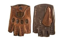 Women's Cycling Driving Fitness Leather Gloves Camel Taupe Color Handmade