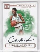 2016-17 Cedric Maxwell /99 Auto Panini Impeccable Indelible INK Autographs