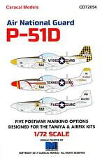 Caracal Decals 1/72 P-51D MUSTANG AIR NATIONAL GUARD UNITS