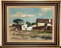 Vintage ROBERT BROADLEY Oil Painting SOUTH AFRICAN Cape Town Village Framed