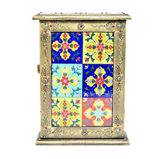 Decorative Key Box Holder Premium Quality Wooden Vintage Look Wall Mount Cabinet