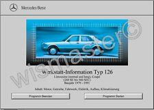 WIS Reparaturanleitung für Mercedes Benz W126 alle Modelle sofort als Download