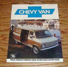 Original 1976 Chevrolet Truck Chevy Van Sales Brochure 76 Cutaway Hi-Cube