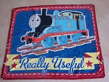 THOMAS THE TRAIN BLANKET FLEECE SWADDLE SNAP THROW FLOOR COVER   EXC CONDITION