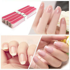 10pcs Pro LOTS Nail Art Sanding Files Polish Block Buffer Manicure Tips Tools FT