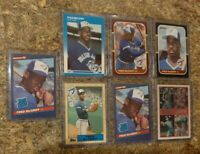 (7) Fred Mcgriff 1986 Donruss Leaf 1987 Fleer Topps Rookie card lot RC Blue Jays