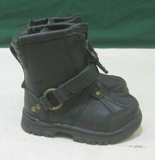 Polo Ralph Lauren Shoes Brandy Holden Leather Hi Black Boots Size 4.5 C