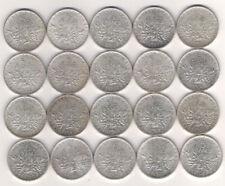 Lot de 20 X 5 frs Semeuse 1960 à 1964