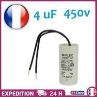 Condensateur moteur de démarrage / permanent 4µF 4uF 450V a fils travail MKSP-5P