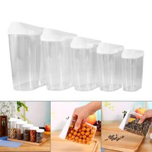 5 Pcs Cereal Dispenser Storage Box Kitchen Storage Dry Food Rice Pasta Container