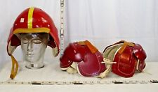 MC KINNON #475 CHILD'S FOOTBALL HELMET WITH MATCHING SHOULDER PADS 1950s