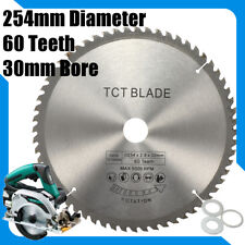 Circular Saw Blade 254mm x 60T 30mm Bore With 3 Reduction Rings for Makita