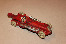1930's Aub-Rubr Auburn Racer Vintage TOY Red Car Fin Rocket RARE Auburn Rubber