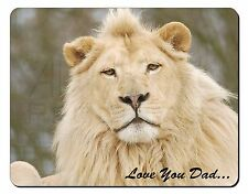 White Lion 'Love You Dad' Computer Mouse Mat Christmas Gift Idea, DAD-149M