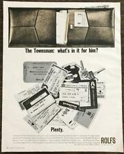 1965 Rolfs Men's Wallet Holiday Print Ad What's in it for Him? Plenty