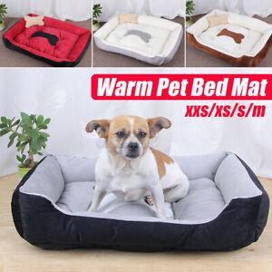 Pet Dog Cat Bed Puppy Cushion House Warm Sofa Mat Pad Blanket Washable w/