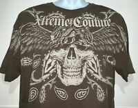 Xtreme Couture T Shirt Graphic Tee Short Sleeve 100% Cotton Affliction Brown XL