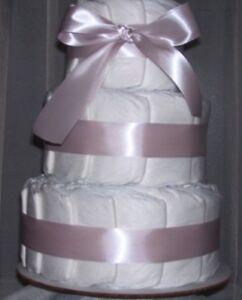 BABY SHOWER Girl Diaper Cake Blush Ribbon Party Favors Baby Christmas Gift