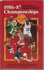 Vintage 1986-87 NCAA Basketball Championship Guide Title