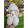 MAKE YOUR OWN CUDDLY BABY DOLL TOY,Easy Level Knitting Pattern Leaflet.