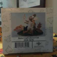 """Charming """"Maxines Leaf Collectors Club"""" 98/701;New;Sealed; Mouse W/Mirror;Leaves"""