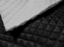 BLACK Suede Faux Quilted auto headliner headboard trim fabric with Foam back