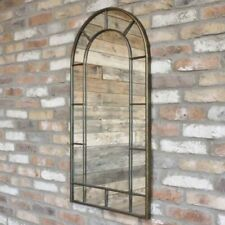 107cm Arch Mirror Wall Mountable Hanging 15 Panel Window Shaped Decoration