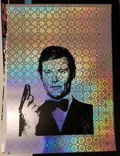 Blunt Graffix 007 James Bond Roger Moore Silkscreen Poster Holographic Foil