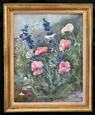 ANTIQUE EXPRESSIONISM OIL PAINTING STILL A LIFE 'SPRING FLOWERS' CREATED IN 1930